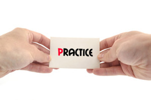 Practice text concept